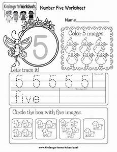 numbers worksheets for kindergarten 18393 free printable number five worksheet for kindergarten