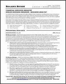 sle resume for a business analyst page 1 business
