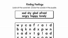word search puzzle finding feelings printable activities