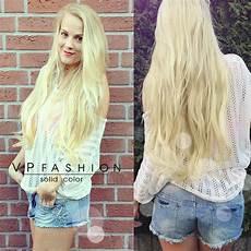 Vanezia Blum - kundenspezifische haarfarbe remy haar clip in extensions