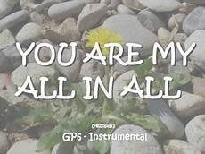you in you are my all in all instrumental acousticversion canon
