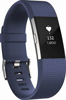 fitbit charge 2 activity tracker rate large blue