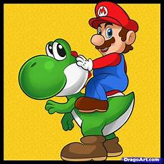 Malvorlagen Mario Und Yoshi How To Draw Mario And Yoshi Step By Step