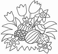 Ostereier Malvorlagen Kostenlos Kostenlose Malvorlage Ostern Blumen Und Ostereier Zum