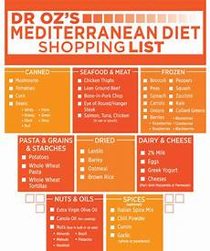 dr oz s mediterranean diet shopping list the dr oz show