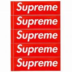 supreme box logo lafayette supreme supreme box logo sticker 5 pack set box