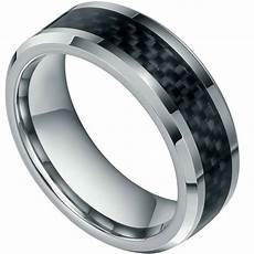 carbon fibre wedding ring 8mm new mens black carbon fiber tungsten carbide
