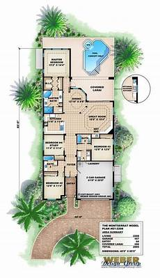 small mediterranean house plans mediterranean house plan waterfront golf course bungalow