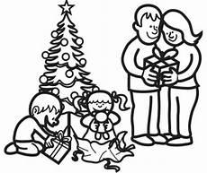Schule Und Familie De Malvorlagen Kostenlose Malvorlage Weihnachten Weihnachtsbescherung