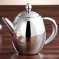 kannen edelstahl teekanne mit siebeinsatz 0 5 liter