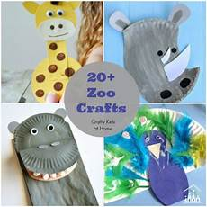 20 zoo crafts for crafty at home
