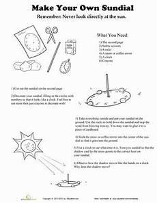 science worksheet maker 12306 make your own sundial science worksheets sundial earth space science
