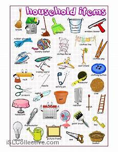 household items picture dictionary worksheet free esl