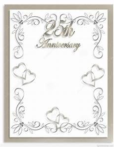 Anniversary Cards Templates Free 25th Wedding Anniversary Invitations Free Templates