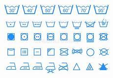 wäsche waschen symbole washing care symbols vector icon set stock vector
