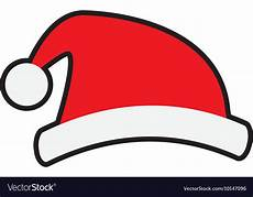 santa hat merry christmas cartoon icon royalty free vector
