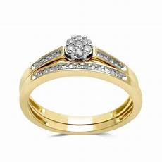 1 7 cttw gold over silver diamond bridal jewelry rings