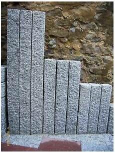 granit palisade kristall grau gespitzt 12x12x100 cm ebay