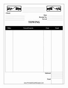 free cleaning receipt template this towing receipt can be used by a towing company or