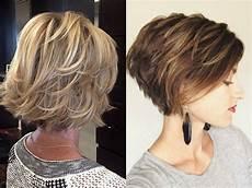 short to medium style layered bob hairstyles layered bob haircuts ideas for thin hair hairdrome com
