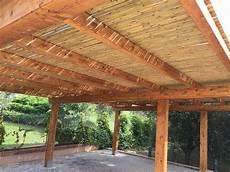coperture per tettoie tettoia per auto con copertura in canne di bamb 249