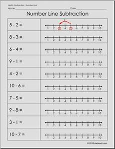 number line subtraction counting with a number line number line worksheets subtraction
