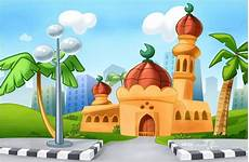 Gambar Masjid Kartun Nan Unik Kartun Kaligrafi Islam