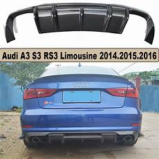 high quality carbon fiber rear lip spoiler bumper diffuser