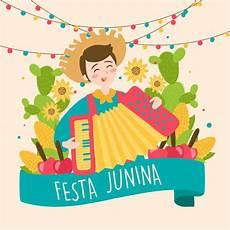 handgezeichnete festa junina brasilien juni festival