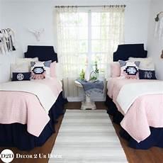 pink navy boho dorm bedding set dorm room decorating