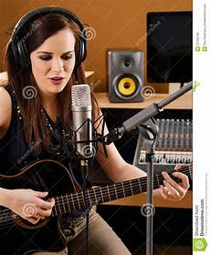 In A Recording Studio Royalty Free Stock Images