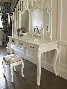 schminktisch shabby chic large ivory dressing table and mirror shabby