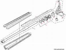 Colt 174 Ar 15 Gas Assembly Explosionszeichnung