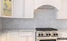 Carrara Marble Kitchen Backsplash White Carrara Subway Backsplash Tile Backsplash