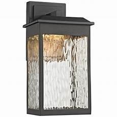 newcastle 13 quot high matte black led outdoor wall light 9v820 ls plus