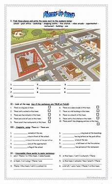 esl worksheets places in town 16001 places in town esl worksheets for distance learning and physical classrooms