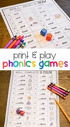 phonics games for 1st grade print play learn teaching