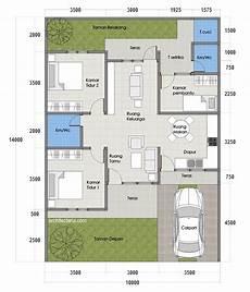 Konsep 24 Denah Rumah Type 70 1 Lantai 3 Kamar