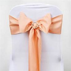 peach chair sashes wedding recycle