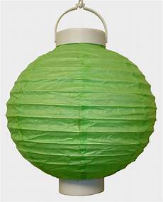 8 Quot Battery Operated Green Led Paper Lantern