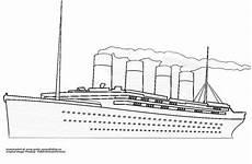 Gratis Malvorlagen Titanic Titanic Mit Rauch Gratis Ausmalbild