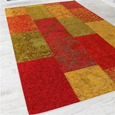 teppich de vintage teppich antik patchwork stil kariert teppich de