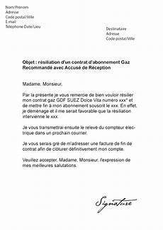 Lettre De R 233 Siliation Gdf Suez Engie Gaz Mod 232 Le De