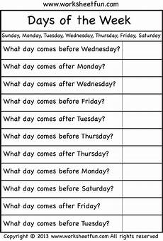 days of the week english worksheets for kids english lessons for kids kindergarten math