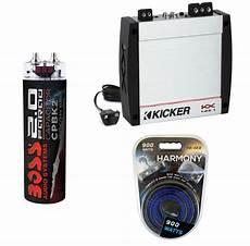 400 watt lifier kit kicker kx400 1 car audio class d mono 400 watt sub amplifier with 8ga amp kit 2 farad