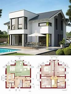 Einfamilienhaus Neubau Modern Mit Satteldach Querhaus