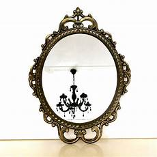 vintage mirror wall hanging oval antique looking by