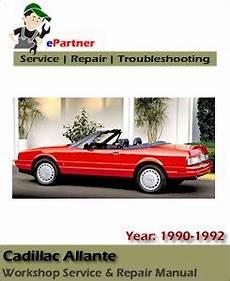 download car manuals 1992 cadillac allante security system cadillac allante service repair manual 1989 1992 automotive service repair manual