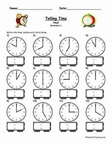 telling time clock worksheet to the hour by have fun teaching tpt