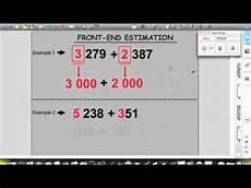 front end estimation addition worksheets 8172 front end estimation